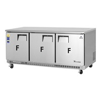 Everest ETBF3 3-Door Undercounter Freezer Back Mount