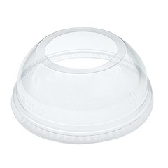 DLW626 19-24 OZ CLEAR DOME LID WITH EXTRA WIDE HOLE, 1000/CASE