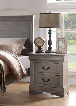 23863 Louis Philippe NIGHTSTAND GRAY