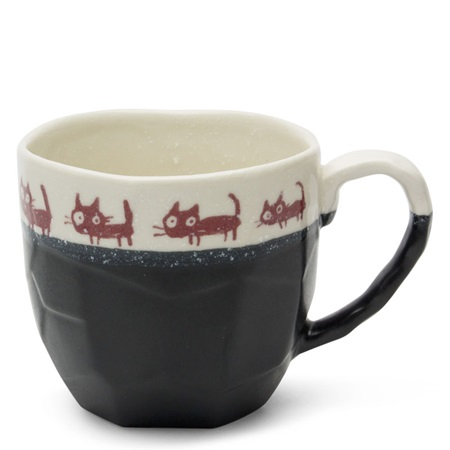 BROWN CAT 10 OZ. BLACK BOULDER MUG