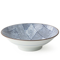 "AIZOME SHIMA 9.75"" SERVING BOWL"
