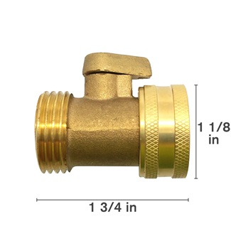 Brass Valve With Thumb Shutoff