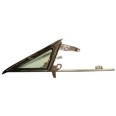1967 Mustang Vent Window Frame and Glass Assembly (Right Hand, tinted)