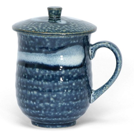 Blue Irabo Mug With Lid