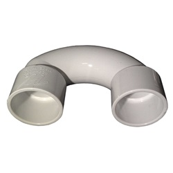 "PVC FITTING: U-BEND 1-1/2"" SLIP X 1-1/2"" SLIP"
