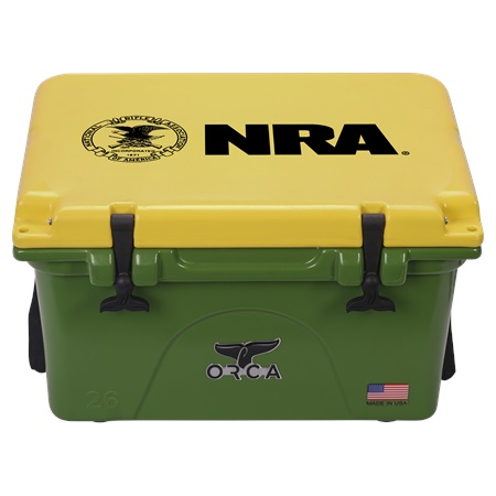 NRA Green Yellow 26qt ORCA Cooler