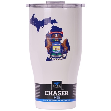 Michigan State Flag Distressed Chaser 27Oz