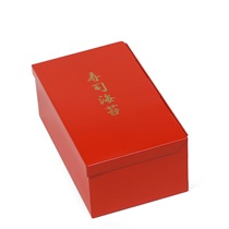 "Nori Box Tin 9""X5.5""X3.5"" Red"