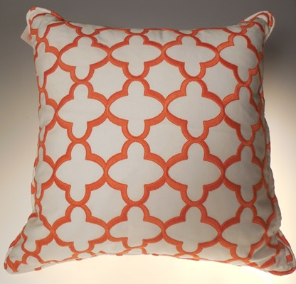 Orange and White Pillow