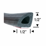 Peel-N-Stick Hollow Half Round - 5ft, 10ft, 15ft & 30ft