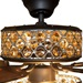 "52""W Celestine Crystal and Chrome Beaded Ceiling Fan with Remote"