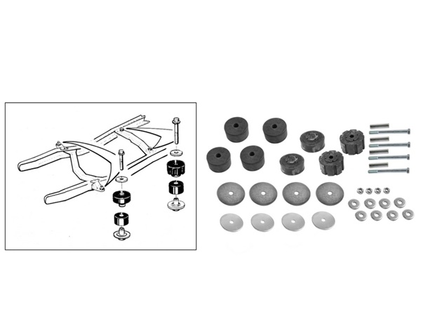 Steele Rubber Products - Body Mount Kits