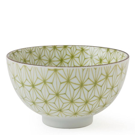 "Asanoha Colors 4.5"" Rice Bowl - Green"
