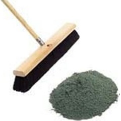 50 LB FLOOR SWEEPING COMPOUND, GREEN BASE, SANDED GRIT, GREEN