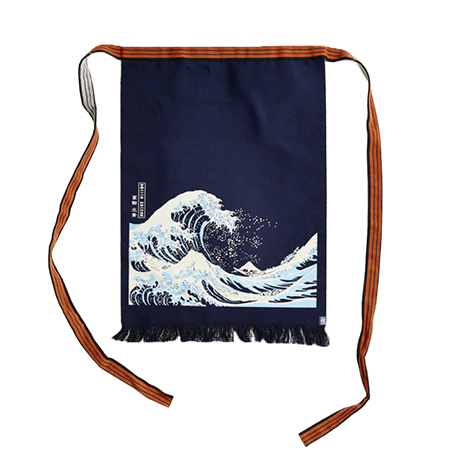 Maekake Canvas Apron - Great Wave