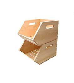 Unique Stackable Wooden Boxes