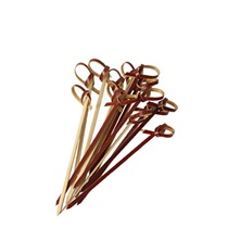KNOTTED BROWN BAMBOO SKEWERS - 5""