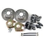 Rear Disc Brake Conversion Kit (Drilled and slotted rotors)