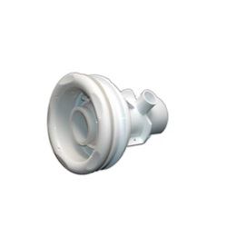 "SWIM JET ASSEMBLY: 1/2"" SLIP AIR X 2"" SLIP WATER STRAIGHT BODY OLD FAITHFUL 5-SCALLOP WHITE"