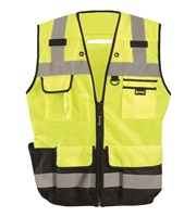 Heavy Duty Black Bottom Surveyor Vest