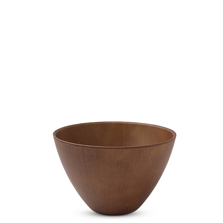 "Wood Grain Design Plastic 5"" Bowl"