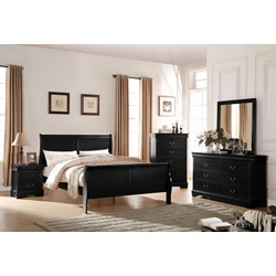 23740T LOUIS PHILIPPE BLACK TWIN BED