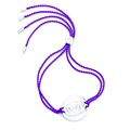 Daisy London Chakra Bracelet, Brow, Silver with Purple Cord