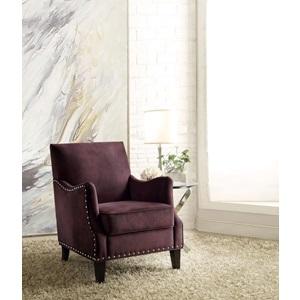 59447 RUST PURPLE ACCENT CHAIR