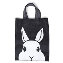 Black Denim Tote Rabbit