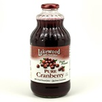 Cranberry Juice, Pure (Lakewood) - 32oz (Case of 12)