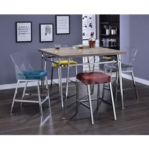 72172 GRAY COUNTER HEIGH CHAIR