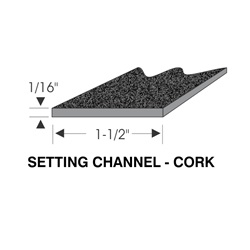 Sash Channel Filler 1/16 Cork