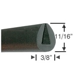 "11/16"" Dense Rubber Edge Seal"