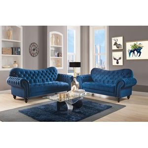 53407 NAVY IBERIS LOVESEAT