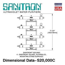 SANITRON® UV Water Purifiers 83–416 GPM - Multi-Chamber Models (Lamps / Quartz Sleeves Included)