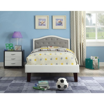 30780T GRAY PU TWIN BED