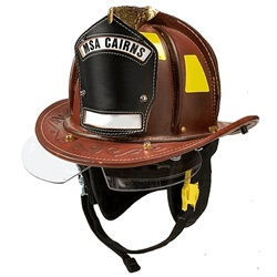 Cairns® N5A New Yorker™ Leather Fire Helmet - Natural Large