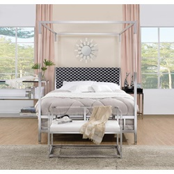 22660Q RAEGAN CHROME QUEEN BED