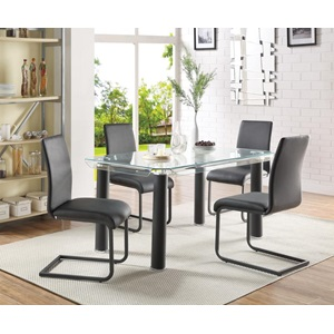 70265 GORDIAS BLACK DINING TABLE