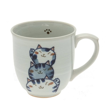 Mug Cat Trio Blue