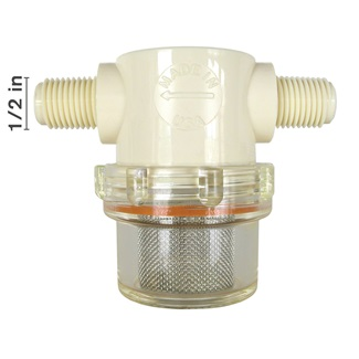 Nylon Low Profile MPT Strainers - Clear Bowl