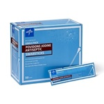 "1 Pack 4"" Povidone-Iodine Swabsticks - Medline"