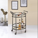 98191 BLACK SERVING CART