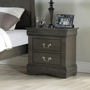 26793 Louis Philippe DARK GRAY NIGHTSTAND