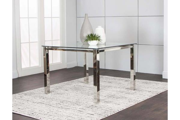 SKYLINE-SQR CHROME TABLE BASE