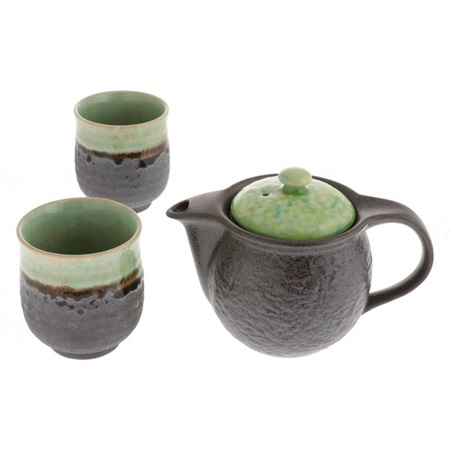 Tea Set Bronze Jade