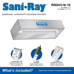 Sani•Ray RRDHO18-1S Included Accessories