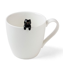 CAT HANGING SPOON - BLACK