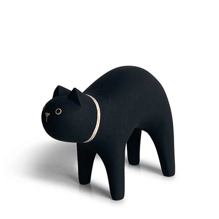 T-Lab Wooden Animal - Cat Black