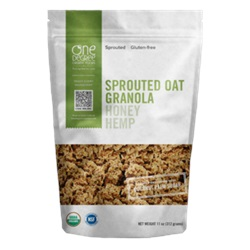 Sprouted Oat Granola (Honey Hemp), ORG - 11oz